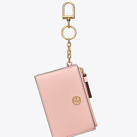 Tory Burch Robinson Card Case Key Fob