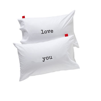 pillowcase (pair) - love you