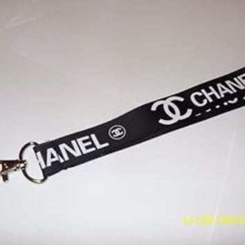 Chanel Lanyard ID Badge Holder Keychain