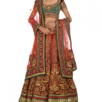 Rust shaded bridal lehenga choli