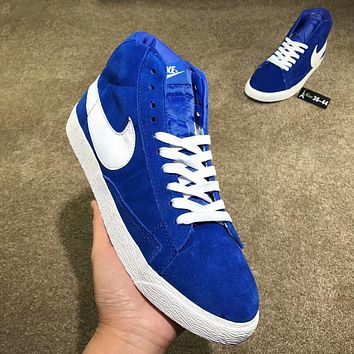 Nike Blazer Popular Women Men Casual High Help Sport Running Shoe Sneakers Sapphire Blue I-AA-SDDSL-KHZHXMKH