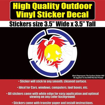 Never Summer Colorado State Flag Vinyl Car Window Laptop Bumper Sticker Decal