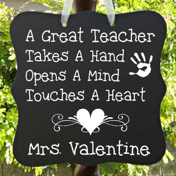 Teacher Appreciation Sign - Personalized Gift For Preschool or Elementary School Teachers!