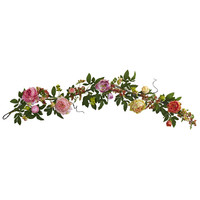Mixed Peony & Berry Garland 60''
