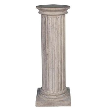 SheilaShrubs.com: Classical Greek Fluted Plinth - Large NE60405 by Design Toscano: Garden Sculptures & Statues
