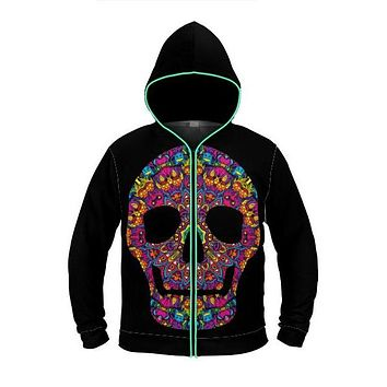 Rainbow Skull - Light Up Hoodie