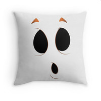 On Sale Ghost Face Pillow Cover Halloween White Black Boo 16x16, 18x18, 20x20