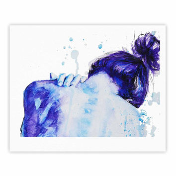 "Cecibd ""Blue"" Aqua Watercolor Fine Art Gallery Print"