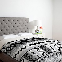 DENY Designs Kris Tate Wipil 3 Duvet Cover in Black