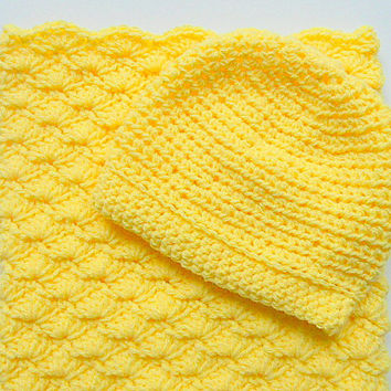 Yellow Sleep Sack Newborn Girl Cocoon Baby Boy Bunting Infant Hat Set 0 - 6 Months Cap Shower Gift