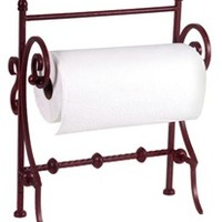 Iron Paper Towel Stand - Kitchen Counter Paper Towel Holder - Bronze / Red