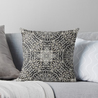 'Mehndi Ethnic Style G419' Throw Pillow by MEDUSA GraphicART