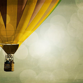Hot Air Balloon Photography Print 11x14 Fine Art New Mexico Whimsical Dreamy Sky Nursery Landscape Photography Print.