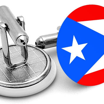 Flag Of Puerto Rico Cufflinks