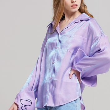 Allie Holographic Blouse Discover the latest fashion trends online at storets.com
