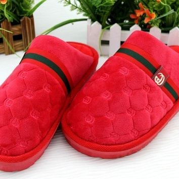 Stylish classic indoor household warm cotton slippers wear resistant non-slip cationic thick bottom Non-slip