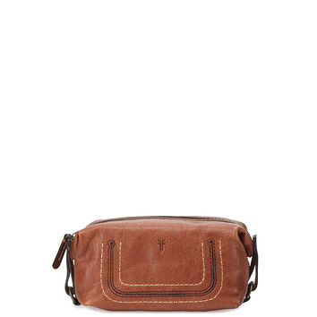 Anna Leather Cosmetic Case, Copper - Frye