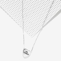 Souvenir Jewelry 'No Thanks' Sterling Silver Sweetheart Necklace