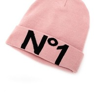 """NO. 1"" FOLD-OVER KNIT BEANIE"
