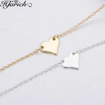 Hfarich Tiny Heart Necklace for Women Heart Shape Pendant Necklace Gift Love heart Necklaces Valentine's Day Wedding Jewelry New