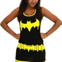 DC Comics Batgirl Juniors Black Tank Top Dress - Batman - | TV Store Online