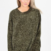 Softest Luxury Chenille Oversized Sweater {Olive}