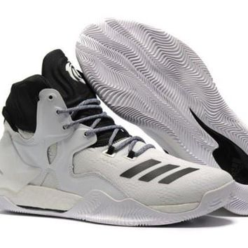 Best Sell Adidas D Rose Primeknit Black & White Oreo Derrick Men's Basketball Shoes