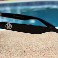 Personalized Engraved Monogrammed Brown Tortoise Shell Sunglasses