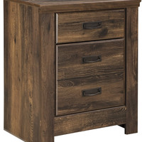 0-003212>Quinden Two Drawer Night Stand Dark Brown