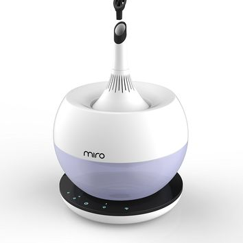 """Miro CleanPot """"Luma Touch"""" Premium Cool-mist Humidifier. Sanitary, Washable Design, with Aromatherapy Functions, Touch control and Colorful LEDs"""