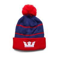 SUPRA Footwear™ | Official Store | TITLE BEANIE | NAVY / RED