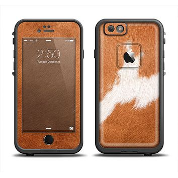 The Real Brown Cow Coat Texture Apple iPhone 6 LifeProof Fre Case Skin Set
