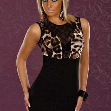 Hot Deal Sexy On Sale Cute Leopard Lace Skirt Exotic Lingerie [6595908227]