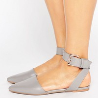 The March Ankle Strap Point Flat Shoes at asos.com