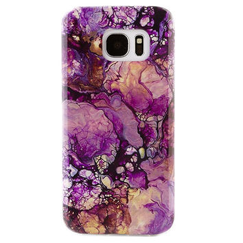 Purple Galaxy Marble Samsung Case