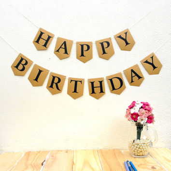 DIY Alphabet Bunting Kit - Kraft / Manilla - Wedding Decor, Guestbook, Photobooth, or Bedroom as Home Decor!  Birthday Banner Name Bunting