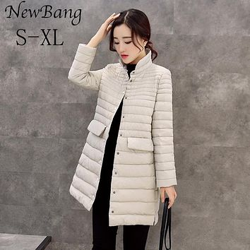 Womens Jackets And Coats Ultra Light Duck Down Jacket Long Thin Slim  Parkas
