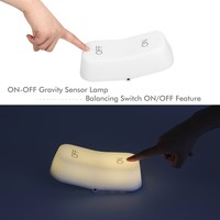 OxyLED BN03 Gravity Sensor LED ON/OFF Lamp, Built-in 450mAh Battery, USB Rechargeable, Warm Light