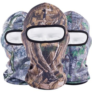 Realtree Jungle Camouflage Bionic Bicycle Balaclava Tactical Paintball Cap Hats UV Protection Full Face Mask