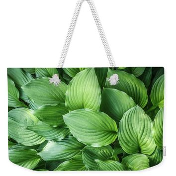 Beautiful Green Arc-shaped Leaves Weekender Tote Bag