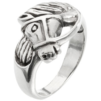 Horse Head Sterling Silver Ring