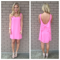 Pink How Low Can You Go Bow Dress
