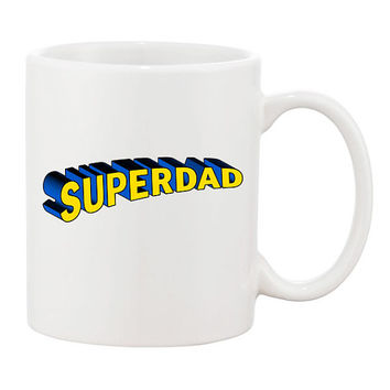 Funny Superdad Coffee Mug Mugs Cup Fathers day gift Dad Grandpa Superman Parody present Papa Movie Film Custom Gift for Dad Superhero