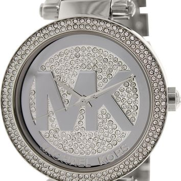Michael Kors Mid-Size Stainless Steel Parker Analog Glitz Watch