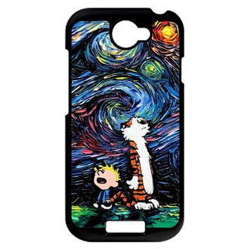 Van Gogh Calvin And Hobbes HTC One S Case