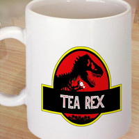 Tea Rex Dinosaur Novelty Ceramic Coffee Mug,tea mug,cup mug 11 oz. Coffee Mug measures 9,5 cm. tall and 8,2 cm. in Centimeter.