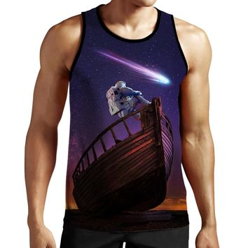 Thinking Astronaut Tank Top