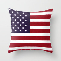 USA Our Flag, United we stand Throw Pillow by Bruce Stanfield | Society6