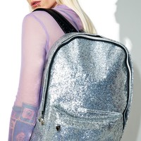 Silver Glitter Backpack
