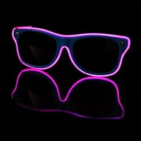EL Wire Light Up Blue and Pink Sunglasses : LED Wire Glasses from RaveReady